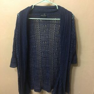 Yarn Art Navy Blue Short Sleeved Cardigan